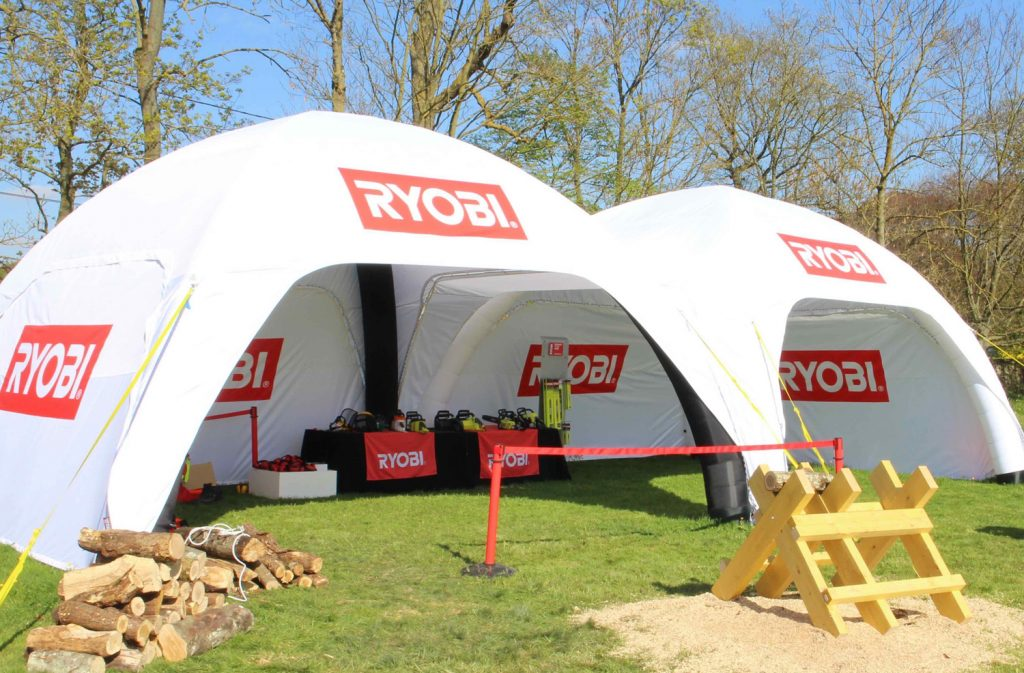 Temporary Branded Idome Tent