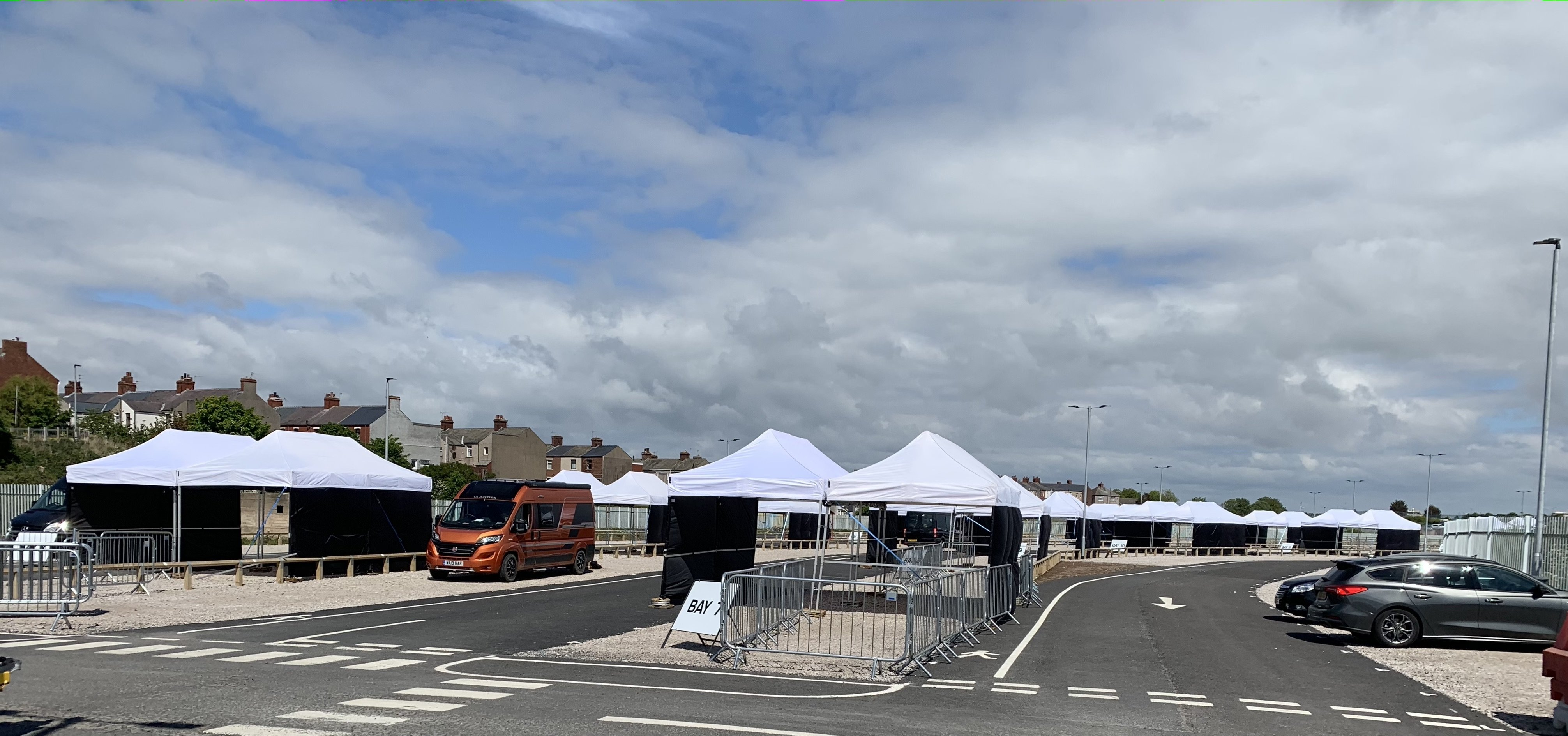 Pop Up Marquees or Gazebos for Covid-19 Drive Testing
