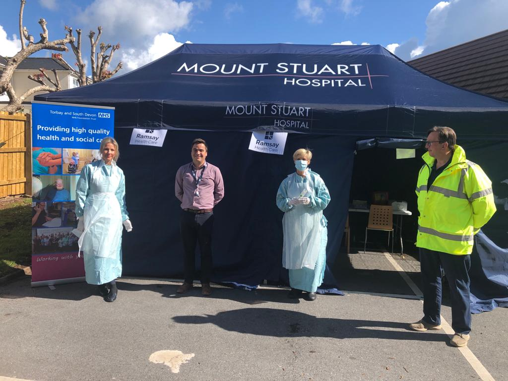 Instant Marquees Tent for Mount Stuart Hospital and Ramsay Health Care supporting NHS