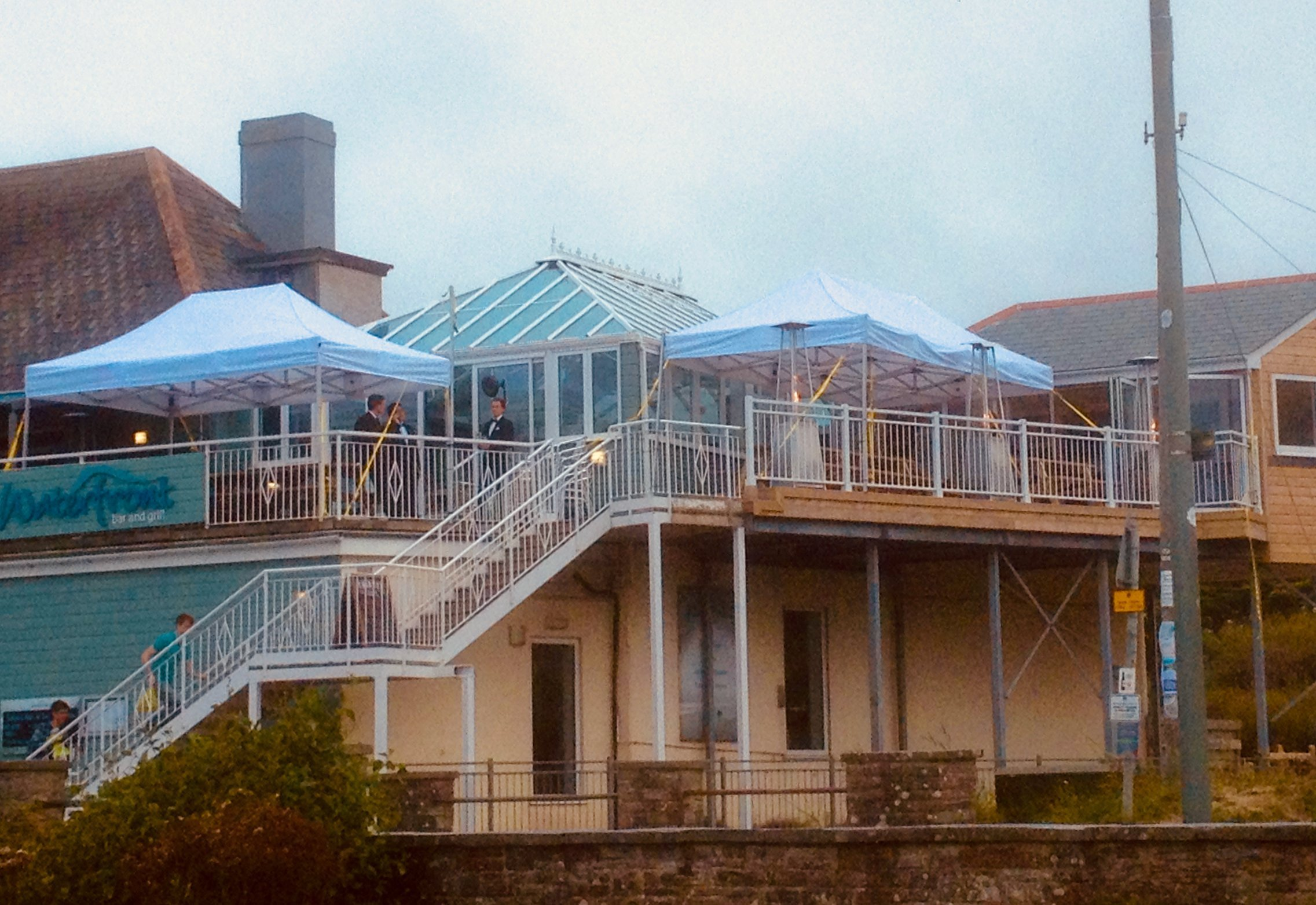 Rental Pop-Up Tents on Polzeath Balcony from Instant Marquees